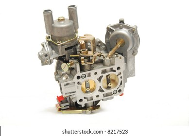 Carburetor from car engine, isolated on white