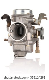 Carburetor For Motorcycle isolated on a white background. This has clipping path.
