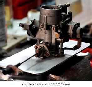 carburetor on a plate