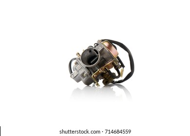 carburetor on a white background with reflection
