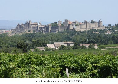 Carcassonne city on the Aude River