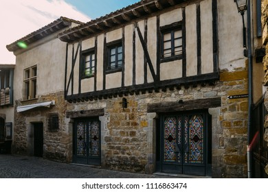 Carcassonne, France - June 14th, 2018: Facade of the Inquisition Museum in Carcassonne, a hilltop town in southern France - UNESCO World Heritage Site