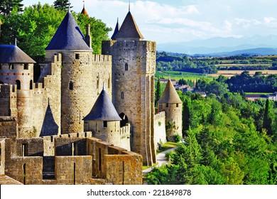 Carcassonne - impressive fortress . France