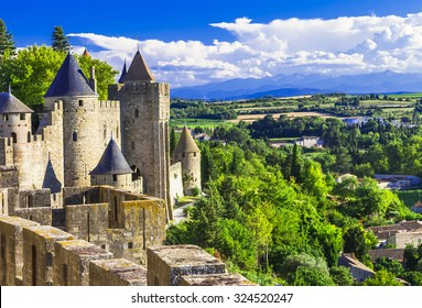Carcassonne - impressive town-fortress in France