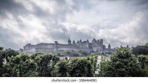 Carcassonne taken in Carcassonne, Aude, France on 11 June 2015