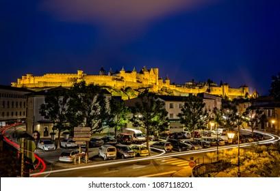 Carcassonne taken in Carcassonne, Aude, France on 10 June 2015