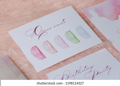 Watercolor Wedding Invitation Stock Photos Images Photography