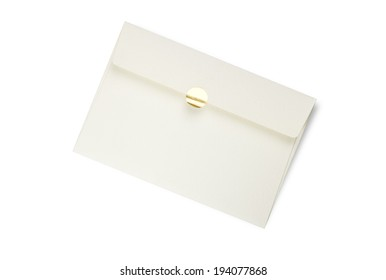card and envelope on white background
