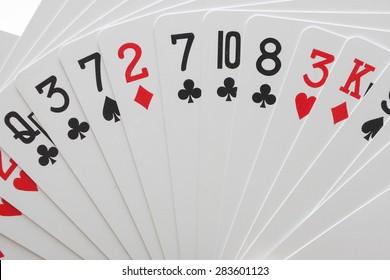 card game close up