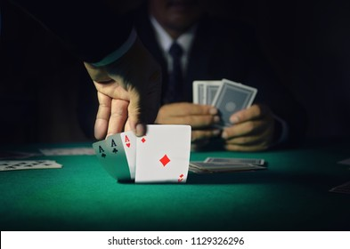 Card player, Gambler in the casino