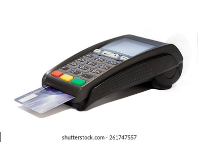 Card reader with plastic card cashless payments