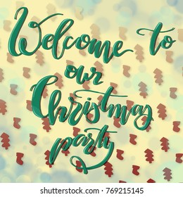 a card welcome to our christmas party