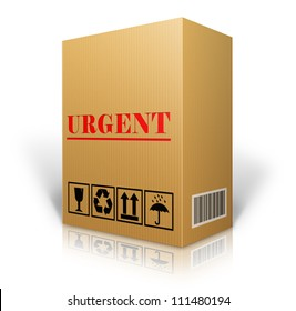 cardboard box blank for shipping order moving or storage with labels and bar code , Urgent