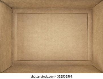 cardboard box; closeup