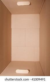 the cardboard box; closeup, isolated