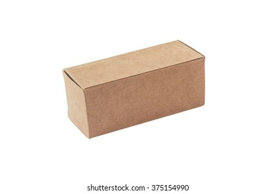 Cardboard box isolated on the white background. This has clipping path