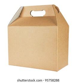 cardboard box isolated on white background