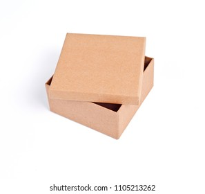 Cardboard box for packaging on a white background
