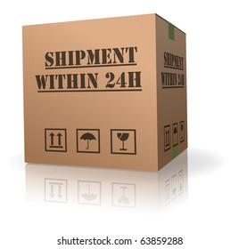 cardboard box shipping order package within 24h