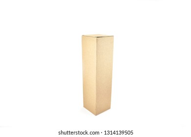 Cardboard Box, Wine Box, Champagne, Liquor Box Design, clear, blank, isolated on white background. Perspective view, Packaging Design