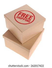 Cardboard Boxes - Free Shipping stamp