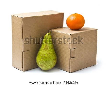 569027b4559a Cardboard Boxes Goods Products Isolated On Stock Photo (Edit Now ...