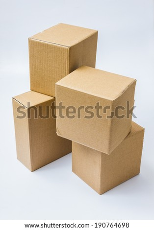 cbacd4910d21 Cardboard Boxes Goods Products On White Stock Photo (Edit Now ...