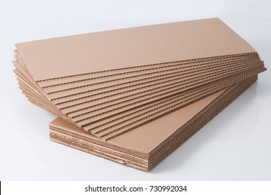 Cardboard. Component boxes on a white background