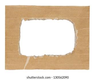cardboard frame on white background