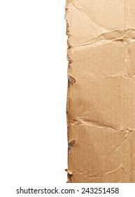 Cardboard isolated on white background