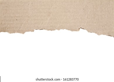 cardboard on a white background