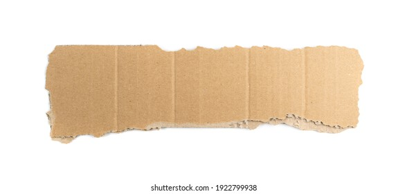 Cardboard Pieces Textured Background. Carton Piece with Copy Space, Ripped Kraft Paper Wallpaper, Brown Wrapping Vintage Paper Isolated Top View