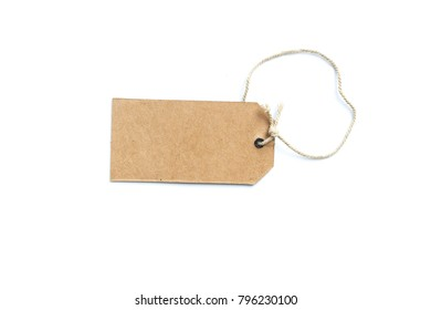 cardboard price tag or label isolated on  white background.