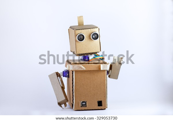 Cardboard Robot Arms Stock Photo (Edit Now) 329053730