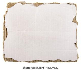 cardboard sheet background isolated on white background