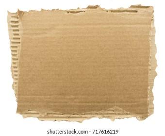 cardboard sign background. kraft cardboard torn edge