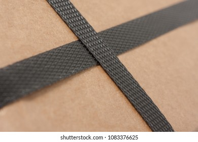 Cardboard with strapping