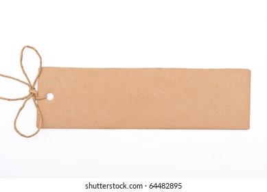Cardboard tag