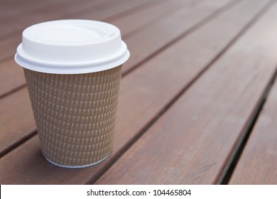 Cardboard throwaway coffee cup