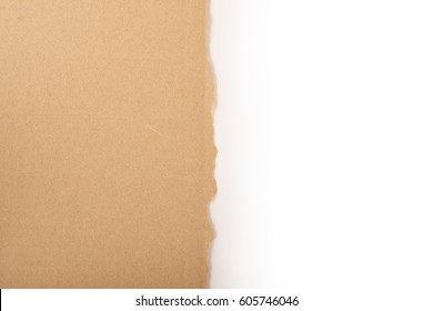 Cardboard torn edge. Cardboard piece