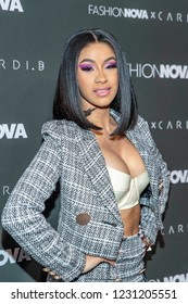 Cardi B attends Fashion Nova X Cardi B Launch Event, at BOULEVARD 3, Los Angeles, California on November 14th, 2018