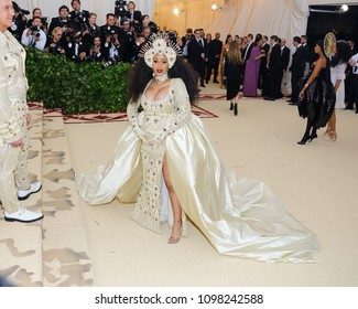 Cardi B attends the Metropolitan Museum of Art Costume Institute Benefit Gala on May 7, 2018 at the Metropolitan Museum of Art in New York, New York, USA