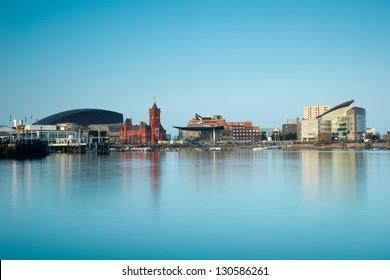 Cardiff bay skyline ,Wales