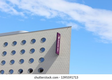 Cardiff Bay, Cardiff, United Kingdom - 10 May 2019: A photograph of the exterior of the newly built Premier Inn opening soon in Cardiff Bay.