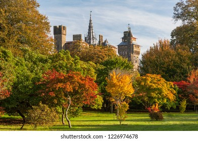 Cardiff Castle, Bute Park, Cardiff, Wales, UK