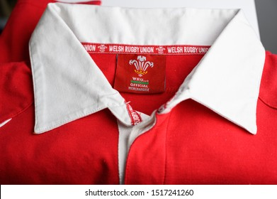 Cardiff, Glamorgan WAles September 29 2019 Official Welsh Rugby Union  National historic  cotton team players shirt