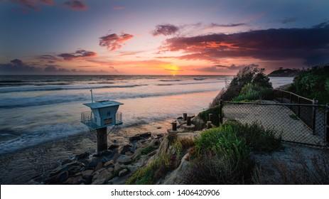 Cardiff Pipes Beach Sunset, Encinitas CA