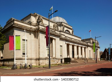 CARDIFF SOUTH GLAMORGAN WALES - MAY 18TH 2019; Facade of the 'National Museum Cardiff' in central Cardiff