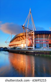 CARDIFF, UK - APRIL 6: The Millennium Stadium is shown on April 6, 2010 in Cardiff, UK. The stadium is celebrating its 10th anniversary and will stage the Wales v Australia rugby game on Nov 6, 2010.