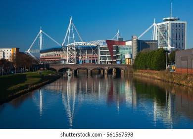 Cardiff, UK - January 2, 2013. Millennium Stadium, Wales. used for the Welsh Rugby Team, and  also hosts Music Festivals. on the 22 January 2016,  the name was changed to The Principality Stadium.